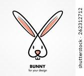 bunny head   Shutterstock .eps vector #262312712
