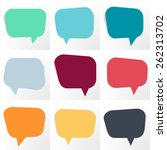 set of speech bubbles | Shutterstock .eps vector #262313702