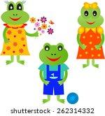 isolated frog vectors  frog...   Shutterstock .eps vector #262314332