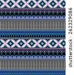 aztec pattern | Shutterstock .eps vector #262329086