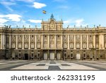 royal palace in madrid in a... | Shutterstock . vector #262331195