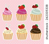 sweet cupcake design  vector... | Shutterstock .eps vector #262335338