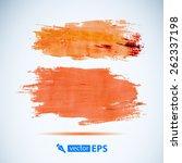 vector acrylic orange ink spot. ... | Shutterstock .eps vector #262337198