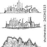 doodle of cityscape vector... | Shutterstock .eps vector #262341515
