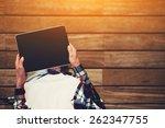 top view shot of a woman... | Shutterstock . vector #262347755