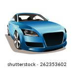 vector sports car front view.... | Shutterstock .eps vector #262353602