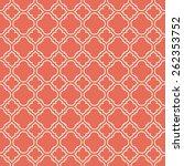 Coral Pink Quatrefoil Vector...
