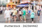 abstract of blurred people... | Shutterstock . vector #262364462
