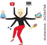 a woman of xxi century | Shutterstock .eps vector #262364768