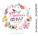 happy mother's day. greeting... | Shutterstock .eps vector #262368395