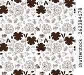 autumn beige seamless stylized...   Shutterstock .eps vector #262384178