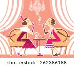 Vintage Flapper Girls With...