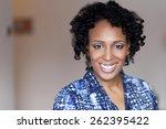 Beautiful Black Woman Smiling...