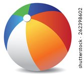 colorful beach ball vector | Shutterstock .eps vector #262398602