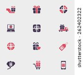 gift box icons | Shutterstock .eps vector #262402322