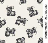 doodle train seamless pattern... | Shutterstock . vector #262402982