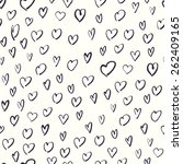 seamless hand drawn hearts... | Shutterstock .eps vector #262409165