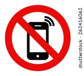 mobile phone prohibited. no... | Shutterstock .eps vector #262416062
