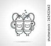 black flat line design icon for ... | Shutterstock .eps vector #262422662