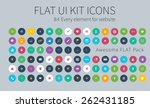 style flat icons pack for... | Shutterstock .eps vector #262431185