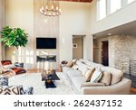 beautiful living room with... | Shutterstock . vector #262437152