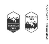 two vintage mountain labels ... | Shutterstock .eps vector #262439972