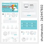 set of two flat pages website... | Shutterstock .eps vector #262447832