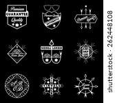 9 vintage logos | Shutterstock .eps vector #262448108