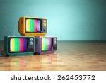 vintage television concept.... | Shutterstock . vector #262453772