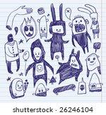 Sketchbook Doodles. Hand Drawn.