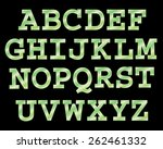 vector cinema font. | Shutterstock .eps vector #262461332