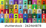flat people icons  different... | Shutterstock .eps vector #262464878