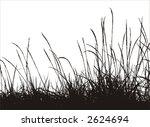 grass vector silhouette - stock vector