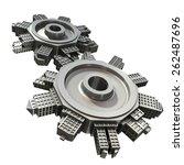 gear   city | Shutterstock . vector #262487696