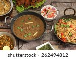 indian dal makhani  with pulav... | Shutterstock . vector #262494812