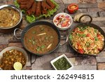 indian dal makhani  with pulav... | Shutterstock . vector #262494815