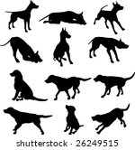 Stock vector dog silhouettes 26249515