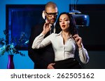 couple indoors. sensual... | Shutterstock . vector #262505162