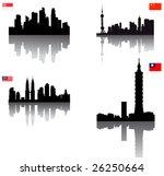 black vector silhouette... | Shutterstock .eps vector #26250664