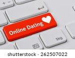 a keyboard with a red button  ... | Shutterstock . vector #262507022