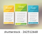 pricing plans for websites and... | Shutterstock .eps vector #262512668