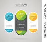 pricing plans for websites and... | Shutterstock .eps vector #262512776