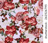 seamless floral pattern with... | Shutterstock . vector #262526795