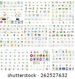 logo mega collection  abstract... | Shutterstock .eps vector #262527632