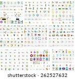 logo mega collection  abstract... | Shutterstock .eps vector #262527632