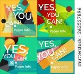 set of flat design square... | Shutterstock .eps vector #262527896