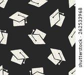 doodle hat seamless pattern... | Shutterstock . vector #262533968