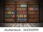 old bookshelves in room... | Shutterstock . vector #262533995