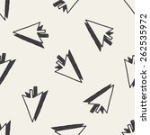 doodle arrow seamless pattern... | Shutterstock . vector #262535972