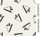 doodle arrow seamless pattern... | Shutterstock . vector #262535972